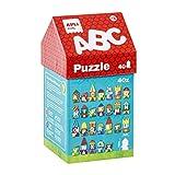 APLI Kids-A, B, C Puzle Casita, 40 Piezas, Multicolor (14805)