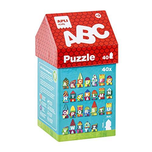 APLI Kids-A, B, C Puzle Casita, 40 Piezas, Multicolor (14805) (Juguete)