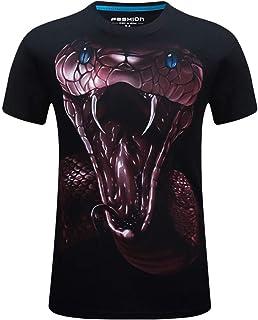DADKA T-shirt Men's Hip-hop Funny Printed Casual Short Plus Size CrewNeck Tops Blouse Short Sleeve