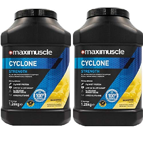 Maximuscle Cyclone - 1.26kg - Banoffee Twin Pack