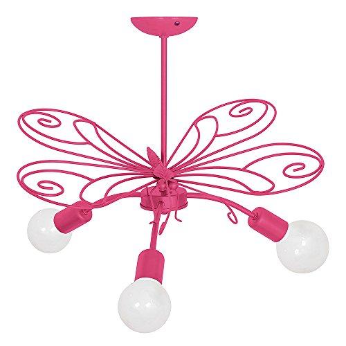 MOTYL III/Farfalla Rosa scuro Lampada per bambini Bambini luce Lampadari Lampada a sospensione