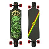 Santa Cruz Longboard Lion GOD TIE DYE Drop Thru, 10.0 x 40.0 Zoll
