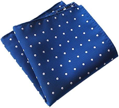 BITUBITU Men's Classic Silk Pocket Squares Handkerchiefs Hankie for Wedding Party