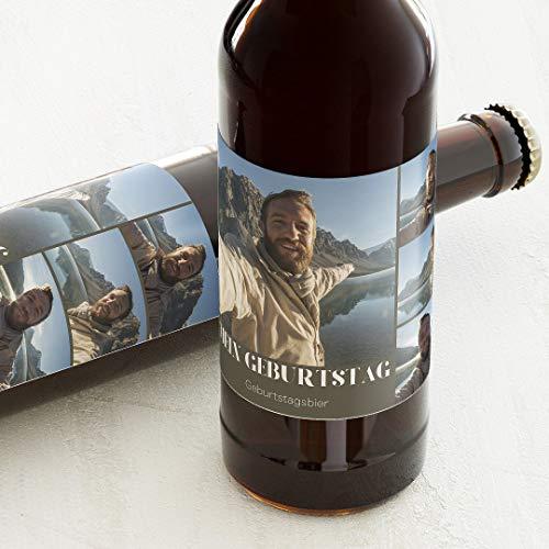 sendmoments Etiketten für Flaschen, Lieblingsbilder, Sticker, selbstklebend, praktisch, individuell mit Text & Foto zum Geburtstag, für Bierflaschen, als Tischdekoration, Querformat, ab 10 Stück