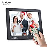 Digital Picture Frame, Andoer 10 inch LED Digital Photo Frame 1080P HD Resolution Desktop Display Image MP4 Video Support Auto Play with Infrared Remote Control Christmas Valentine's Gift Present