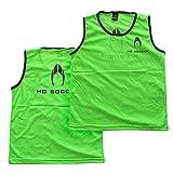 HO Soccer Petos-Team (Packs de 12 Unidades) -Green Entrenamiento De Fútbol, Unisex Adulto, Verde, M