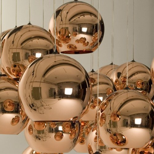 Lightinthebox Mini Globe Pendant, 1 Light, Metal Glass Electroplating, Modern Home Ceiling Light Fixture Flush Mount, Pendant Light Chandeliers Lighting for Dining Room, Bedroom, Living Room