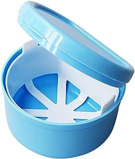 Hilai 1pc Boîte à Dentier avec Panier boîte de rangement de fausses dents de Pro avec conteneur de filet suspendu boîte de...