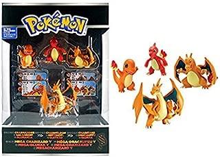 Tomy Pokémon Trainer's Choice 4 Figure Gift Pack, Charmander, Charmeleon, Charizard and Mega Charizard Y