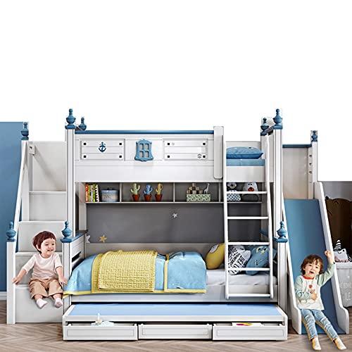 Litera Fuera De La Cama Litera Niño Niña Cama Infantil Apartamento Pequeño Cama Combinada Multifuncional Cama Alta Y Baja Cama para Madre E Hijo