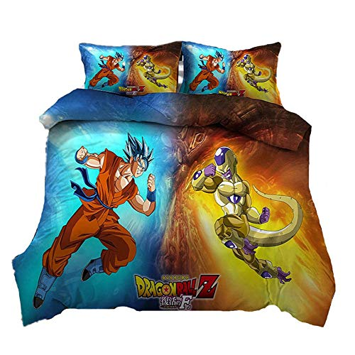 AmenSixye Anime Dragon Ball Z 3D Printed Bedding Set Duvet Cover Pillowcases Comforter Bedding Sets Bedclothes Bed Linen (NO Sheet)-3D_12_200x230cm(3pcs)