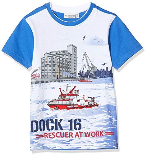 Salt & Pepper Jungen 03112138 T-Shirt, Blau (Strong Blue 483), 116 (Herstellergröße: 116/122)