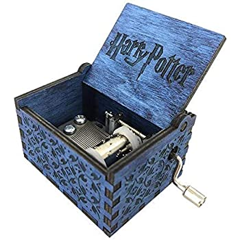 EITHEO Wooden Hand Cranked Collectable Engraved Music Box (Harry Potter)