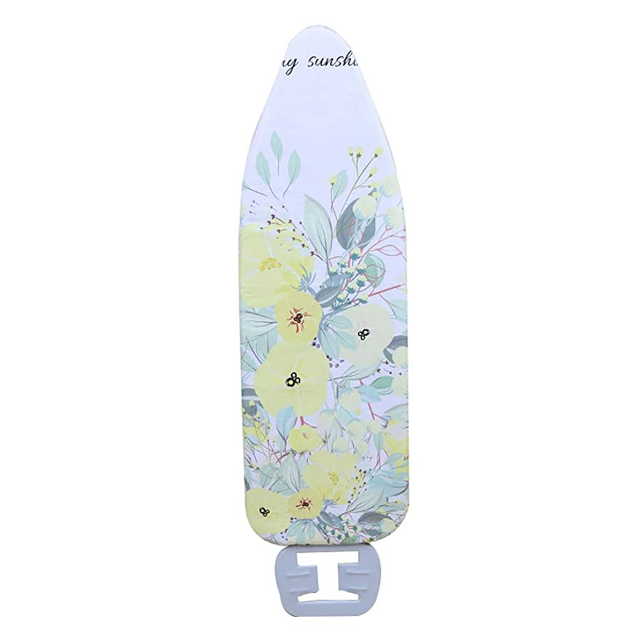 Ironing Board Cover Heat Resistant Thick Flat Replace Large Reusable Washable Household Protect Durable Non-Slip Lightweight Digital Printed(Flowers)