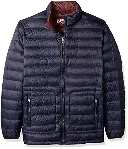 Buffalo by David Bitton Men's Big and Tall B&T Packable Down Puffer Jacket, Dark Navy, XLT