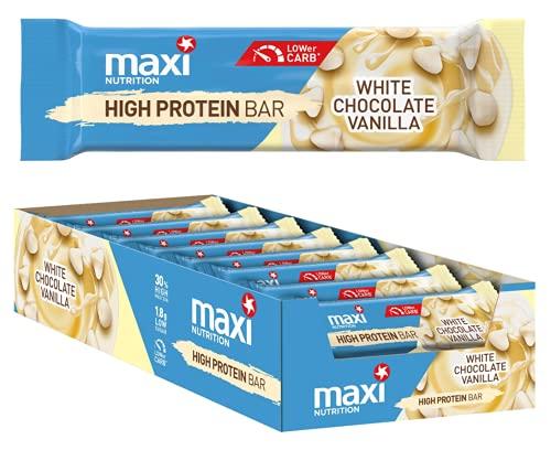 MaxiNutrition High Protein Bar - White Chocolate Vanilla, 18 x 35g (630g)