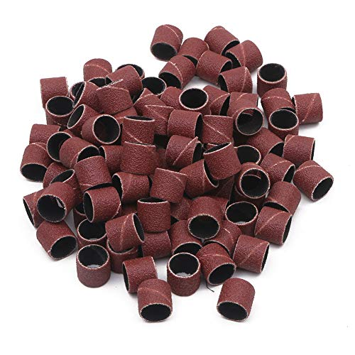 GFHDGTH 100x polijstbanden, nagelvijlmanicure 1/2 & quot; 12,5-mm-trommelhulzen-slijpgereedschapsset, korrel 80 120 180, 120