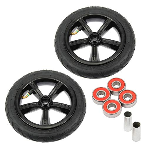 Mach1 2 Stück FunTomia Big Wheel 205mm Scooter Air Luft Reifen-Set inklusive Kugellager + Spacer - Ersatz-Rollen