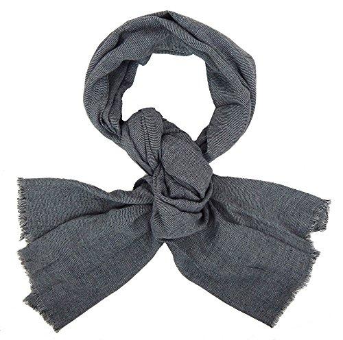 Ella Jonte Écharpes foulard d'homme élégant et tendance de la dernière collection by Casual-style gris coton