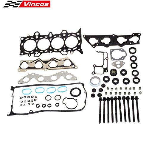 Vincos Head Gasket Set with Head Bolts HS26236PT-2 Compatible with Civic DX LX 2001-2005 VTEC D17A1 1.7L