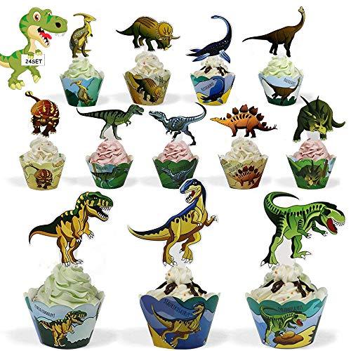 Cupcakes Papel,12 Espacios Tema Cupcake Wrappers con 12 Cupcake Topper,Espacios Niños Cumpleaños...