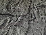 Minerva Crafts Stoff, knitterfrei, Meterware, Grau