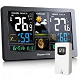 Best Home Weather Stations - Newentor Weather Station with Outdoor Sensor Wireless, Digital Review