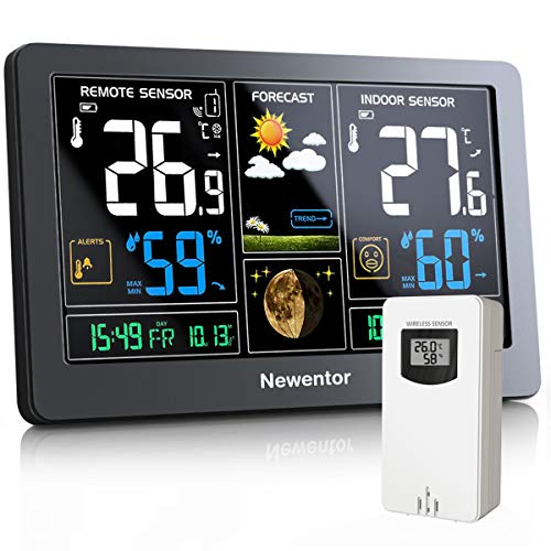 Newentor Weather Station with Outdoor Sensor Wireless, Digital Home Weather...