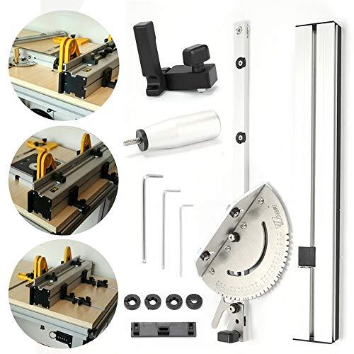OUKANING Gehrungslehre Box Joint Jig Kit Set einstellbarem Flip Stop miter gauge 450mm