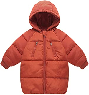 Baby Boys Girls Winter Coat Toddler Kids Warm Hooded Jacket Outerwear