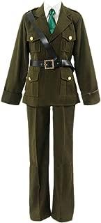 Hetalia: Axis Powers England UK Halloween Military Uniform Cosplay Costume