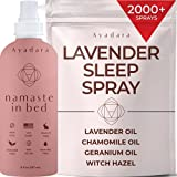 Ayadara Lavender Sleep Spray | Relaxing Chamomile Freshener for Linen, Bedding, Pillow, Blanket, Sheets, & Clothing | Calming & Long-Lasting Lavender Essential Oil Mist for a Deep Sleep | 2000+ Sprays