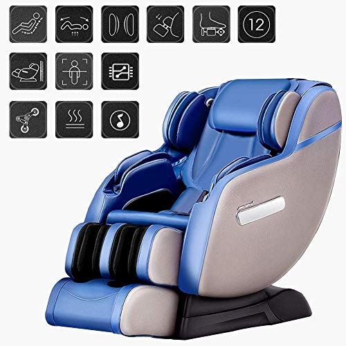 SISHUINIANHUA Sessel 6D Elektro-Massage-Stuhl, Multi-Funktions-Beruf Lehnstuhl Air Massiergeräte, Schwerelosigkeit - 4 Massage-Techniken