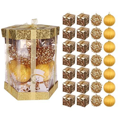 28 bolas de Navidad para decoración de árbol de Navidad – Bolas de Navidad multicolores irrompibles para decoración de fiesta de boda, Navidad, árbol de Navidad, DIY (multicolor)