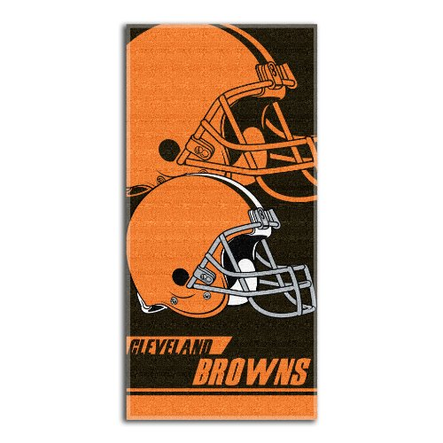 Cleveland Browns Light Weight Fleece NFL Blanket (Grid Iron) (50x60 )
