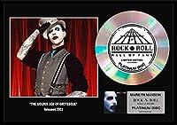 マリリン・マンソン/Marilyn Manson/gold disc album/金ゴールド ディスク/platinum disc album/プラチナディスク証明書付きフレーム/ディスプレイ/cd (The Golden Age of Grotesque-5, PLATINUM DISC)