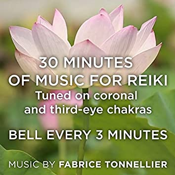 30 Min of Music for Reiki - Tuned on Coronal and Third-Eye Chakras - Bell Every 3 Min
