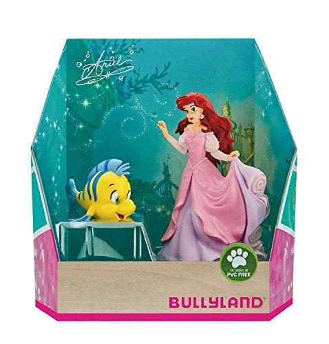 Bullyland 13437 - Spielfigurenset, Walt Disney Arielle - Arielle und Fabius, liebevoll handbemalte Figuren, PVC-frei, tolles Geschenk für Jungen und Mädchen zum fantasievollen Spielen
