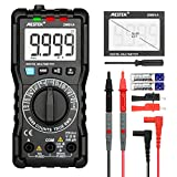 Digital Multimeter AC DC Current Voltage Tester MESTEK TRMS Autoranging NCV VFC Battery Amp Volt Ohm Hz Diode Resistance Frequency Capacitance Continuity Electrical Meter with Probe Clips 9999 Counts