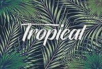 Qinunipotoビニール2.7mx1.8m熱帯植物画像背景熱帯植物背景ジャングルパーティー写真背景休日パーティーの装飾子供の肖像画写真スタジオフォトブース小道具