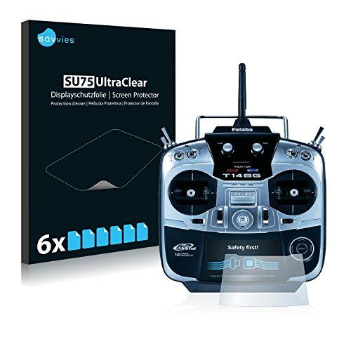 Savvies 6X Schutzfolie kompatibel mit Robbe Futaba T14SG Displayschutz-Folie Ultra-transparent