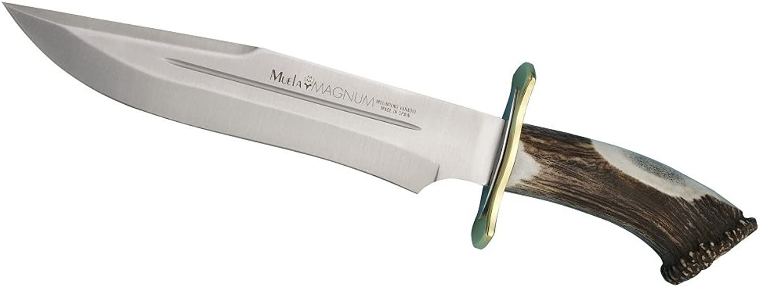 MUELA MAGNUM26 103 4  Fixed Blade Hunting Knife with Leather Sheath