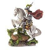 DELL'ARTE Artículos religiosos - Estatua de San Jorge a caballo de 13 cm