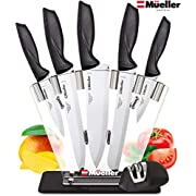 Mueller Austria Deluxe Knife Set With Block, Stainless Steel Pro Chef Fillet Knife Set, 7-Piece Ultra Sharp Kitchen Knife Set with Acrylic Stand