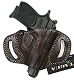 HOLSTERMART USA TAGUA Premium Deluxe Right Hand Open Top Quick Draw Belt Holster in Dark Brown Leather for BERSA Thunder 380, 380 CC, 380 Plus, Firestorm 22 380