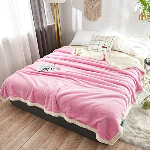 RTRHGDFFGFJHGDDTRHGHUG Licht roze Kleine deken kantoor verdikt dutje deken student slaapzaal stapelbed deken (120x200CM)