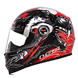 Cara completa Casco de moto Motocross Racing Casco ECE Certificación Hombre Mujer Casco Moto Casque Cascos de Motocross Hombres Cara Completa