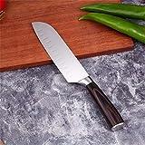 Cuchillo del cocinero 3pcs set de cuchillos japoneses cuchillos de cocina profesional de acero inoxidable Chef Santoku con mango de madera Pakka (Color : 7 Santoku knife)