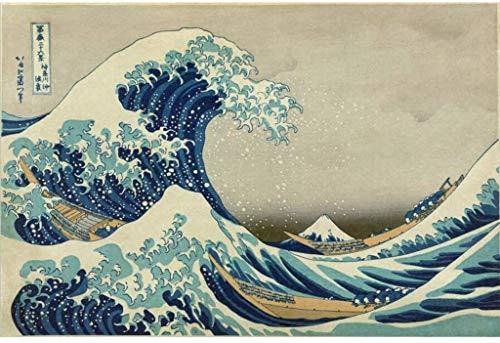 Rompecabezas Familiar Para Adultos Las olas WUJINJExquisite Y Ondas adultos 1000 2000 2700 piezas de juguetes educativos de madera Rompecabezas Importado paisaje niños japoneses famoso cuadro de Kanag