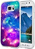 Case for Galaxy S6 Active Protective Purple - S6 Active Case - Cover Compatible for Samsung S6 Active - Colorful Drop Resistant (Slim Flexible TPU Protective Silicone)